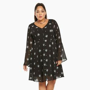 Torrid Bell Sleeve Shirt Dress